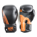 MM Combat Boxing Glove, Black/Orange