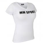 MM Sports V-Tee, White