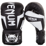 Venum Elite Boxing Gloves, Black/White
