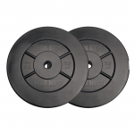 Iron Gym 20kg Plate Set, 10kg x 2 - (Add ons for All In One Curl Bar and Barbell)