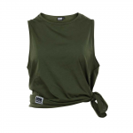Side Knot Tank Abby, Army Green