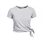 Side Knot Tee Allie, Greymelange