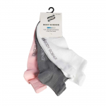 Performance Socks 3-P, White/Grey/Pink