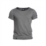 Abel Wide Neck Light Tee, Antracite