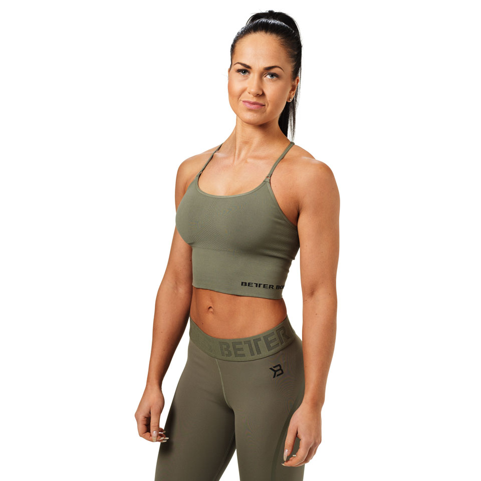 Better Bodies Astoria Seamless Bra Wash Green linne