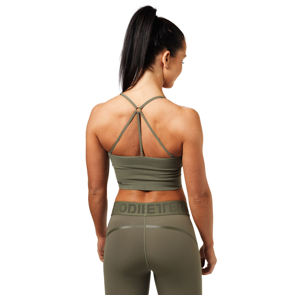 Better Bodies Astoria Seamless Bra Wash Green linne bak