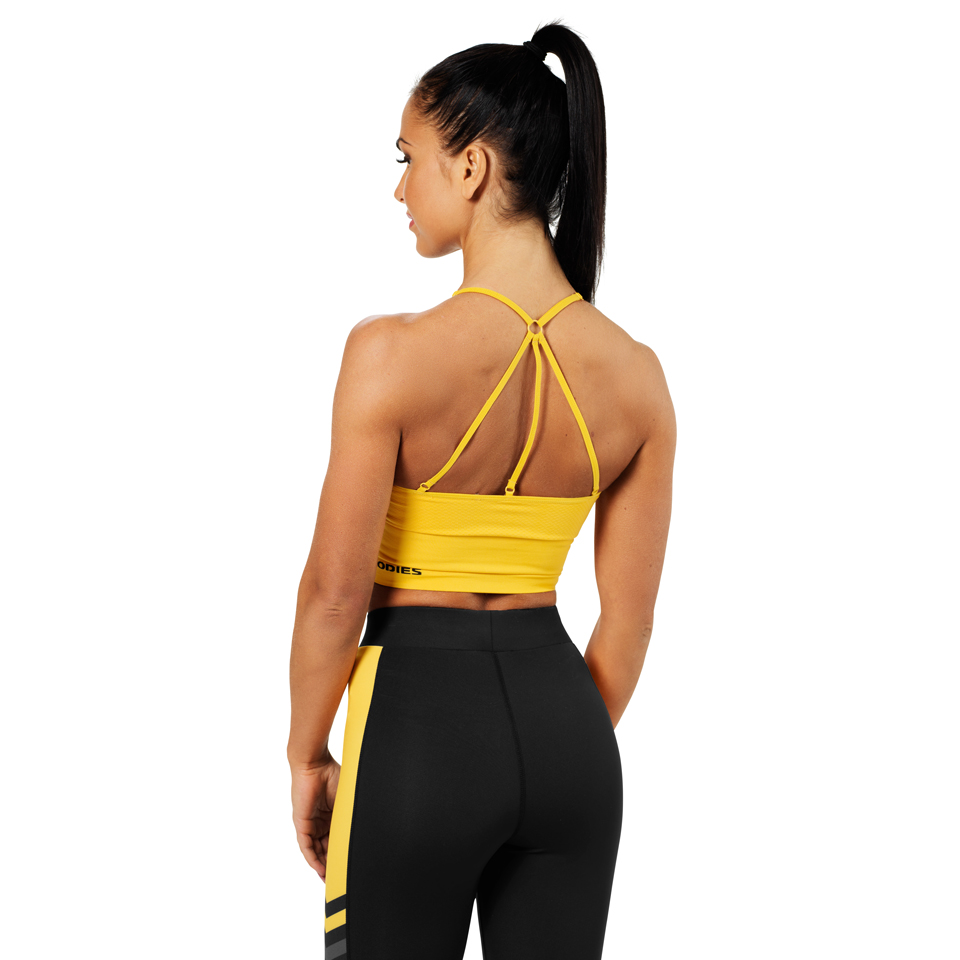 Better Bodies Astoria Seamless Bra Yellow linne bak