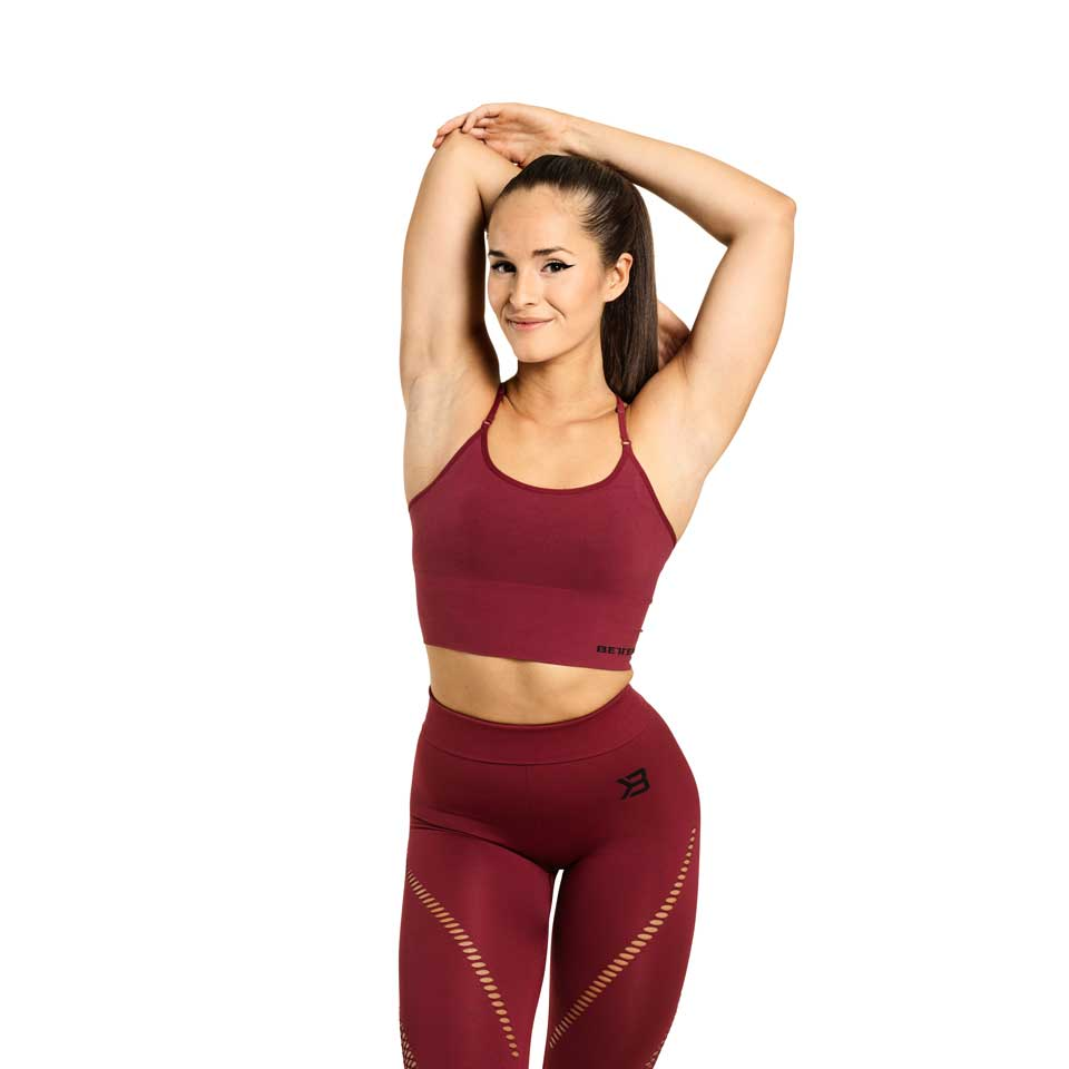 Better Bodies Astoria Seamless Bra Sangria Red linne