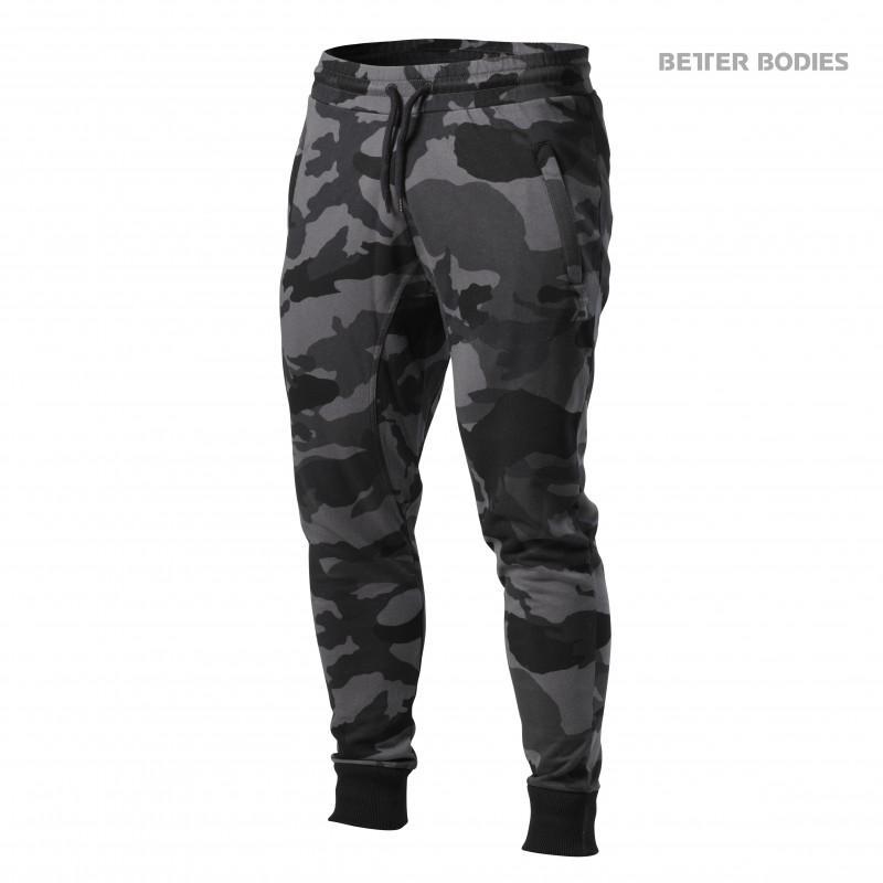 Better Bodies Tapered Joggers, Medium, Dark Camo - Träningskläder, Träningsbyxor
