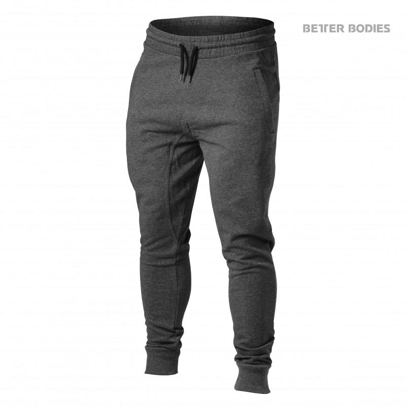 Better Bodies Tapered Joggers, XXL, Graphite Melange - Träningskläder, Träningsbyxor