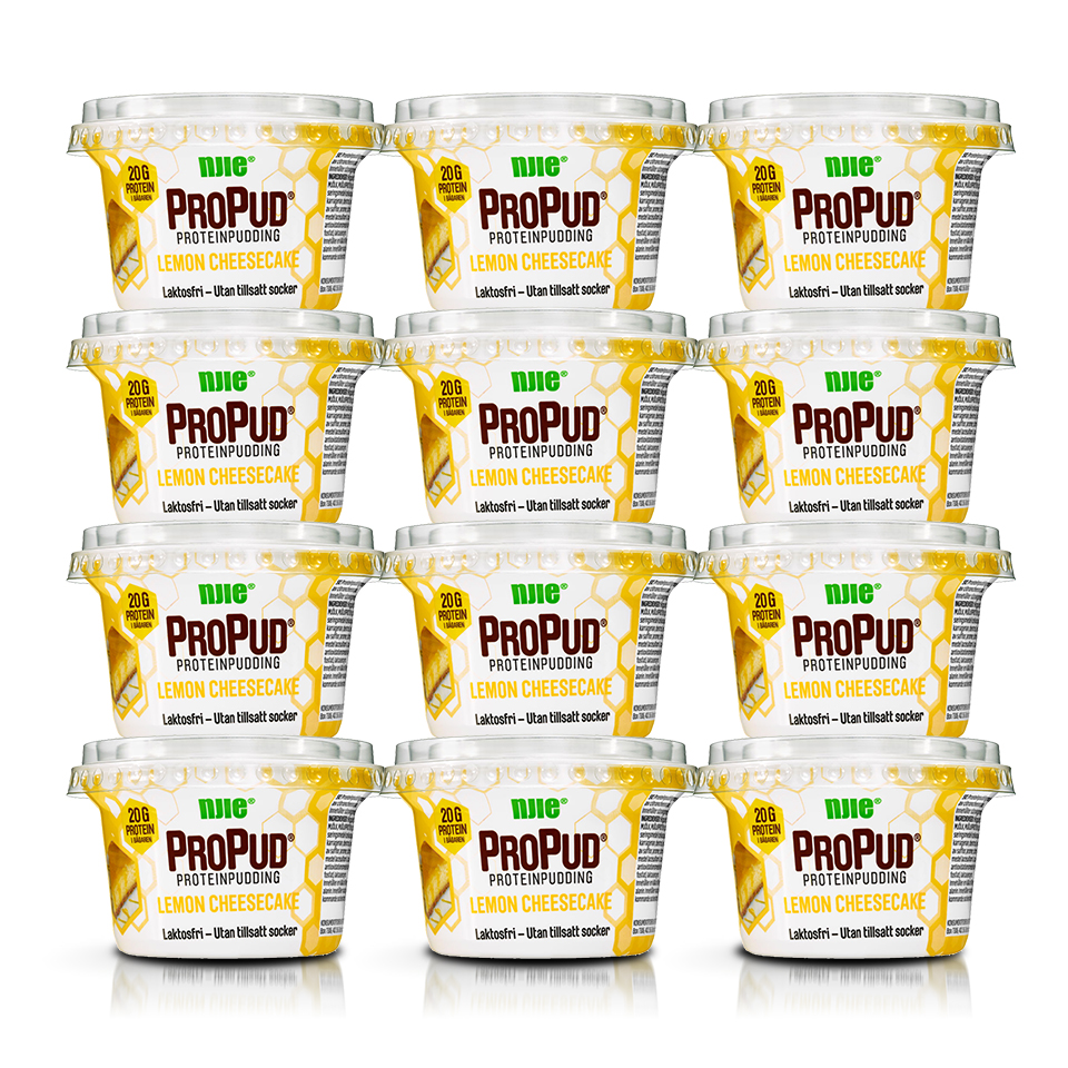 12 stycken NJIE ProPud Lemon Cheesecake proteinpudding