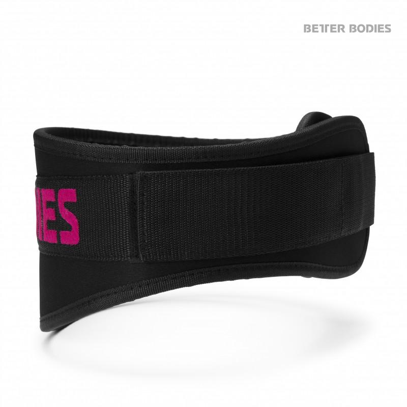 Better Bodies Womens Gym Belt Black/Pink XS - Better Bodies