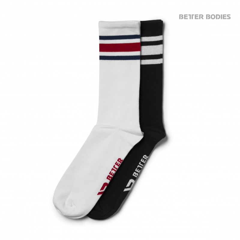 Better Bodies Brooklyn Socks 2-p M Black/Red - Better Bodies