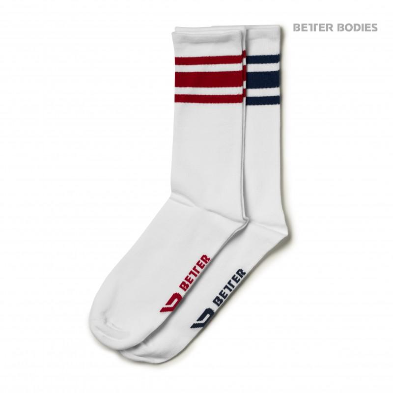 Better Bodies Brooklyn Socks 2-p Navy/Red XL - Better Bodies