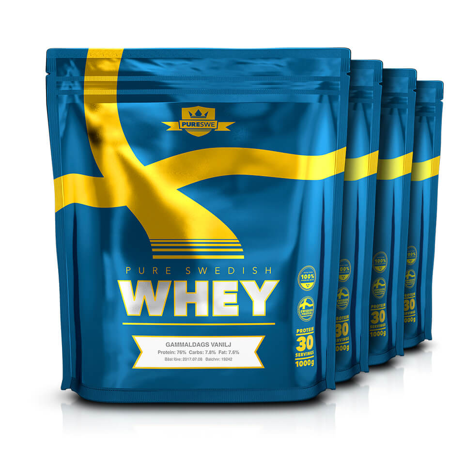 PureSwe Whey Storpack 4 st