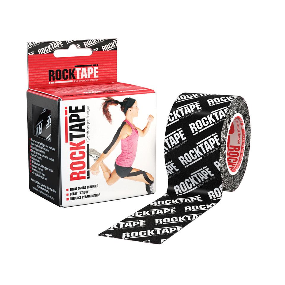RockTape Kinesiologitejp 5cm x 5m Black Logo - RockTape