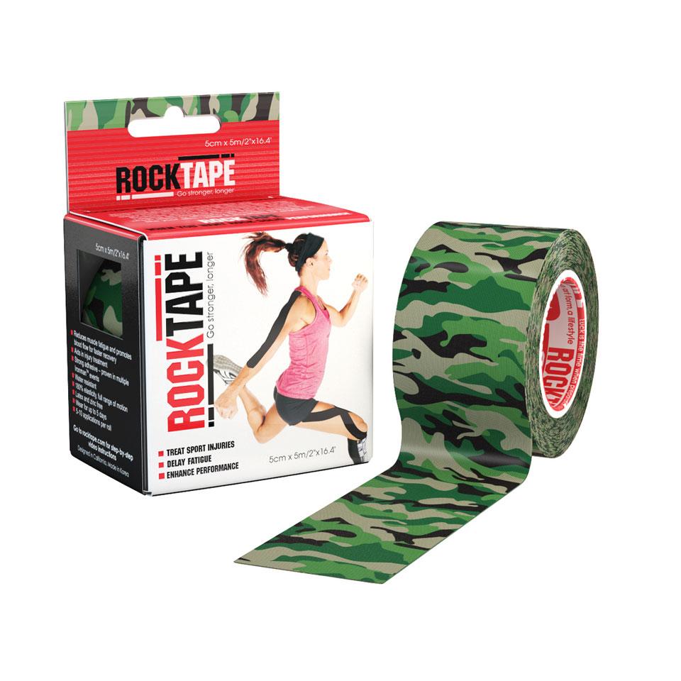 RockTape Kinesiologitejp 5cm x 5m Green Camouflage - RockTape