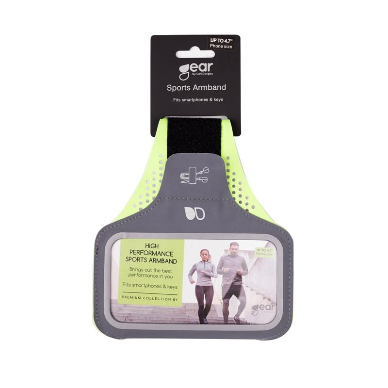 GEAR Sport Armband Premium 4,7'' ex. iPhone 6/7/8 Grå/Gul - GEAR