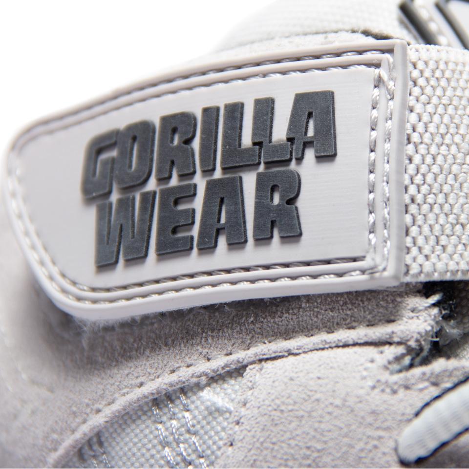 Kardborrespänne på Gorilla Wear Perry High Tops Pro vit lyftarsko