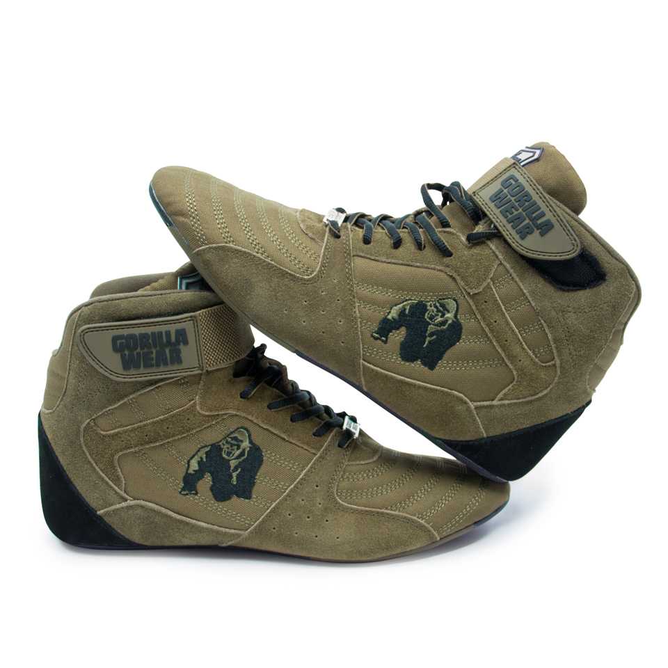 Lyftarskor Perry High Tops Pro Army Green från Gorilla Wear
