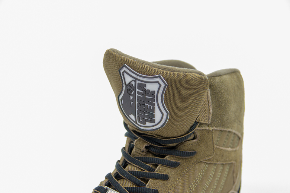 Gorilla Wear Perry High Tops Pro Army Green lyftarsko plös
