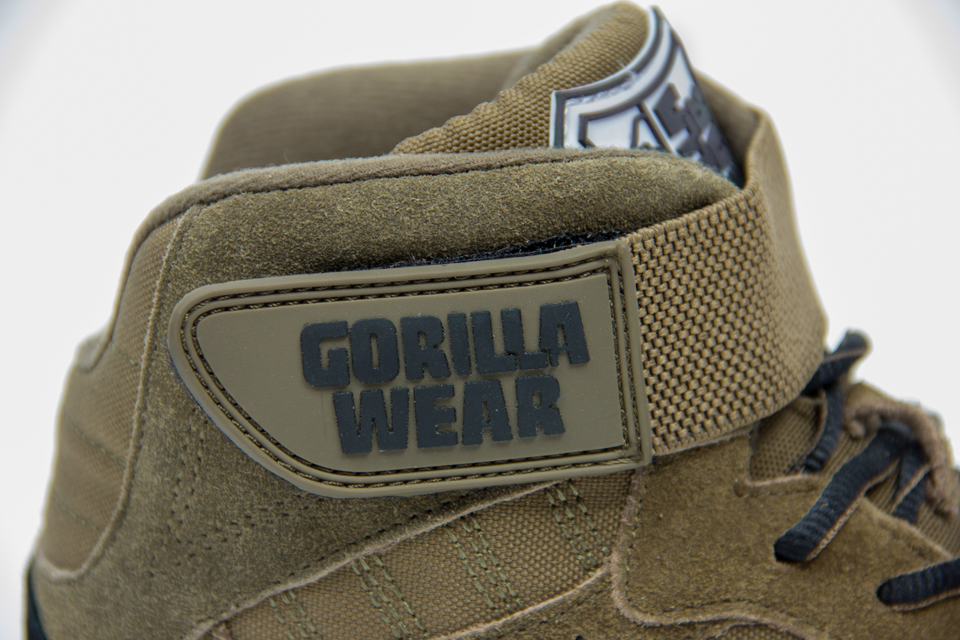 Kardborrespänne på Gorilla Wear Perry High Tops Pro Army Green lyftarskor