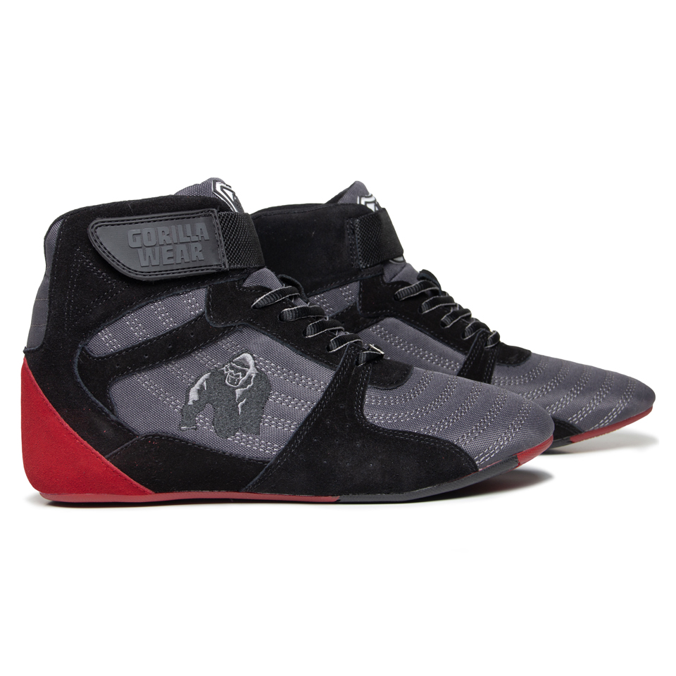 Gorilla Wear Perry High Tops Pro Grey/Black/Red lyftarskor