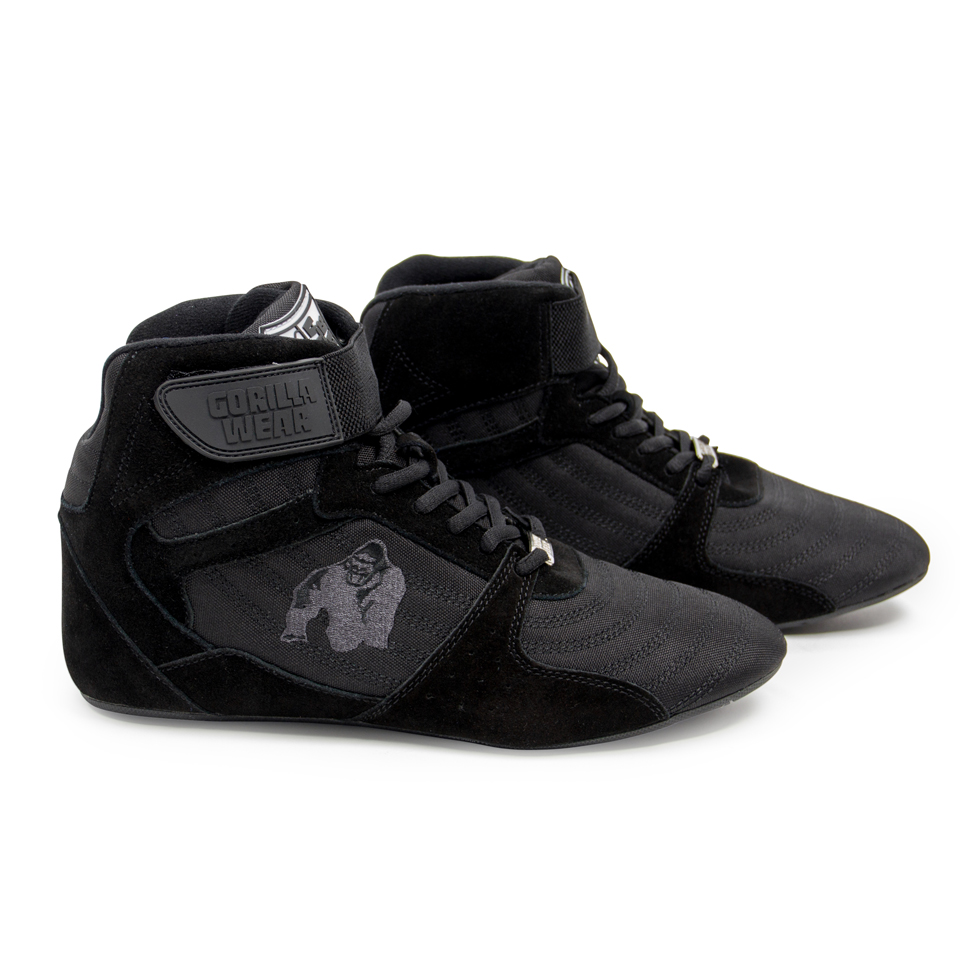 Lyftarskor Perry High Tops Pro Black/Black från Gorilla Wear