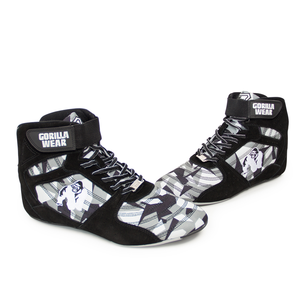 Lyftarskor Perry High Tops Pro Black/Grey Camo från Gorilla Wear
