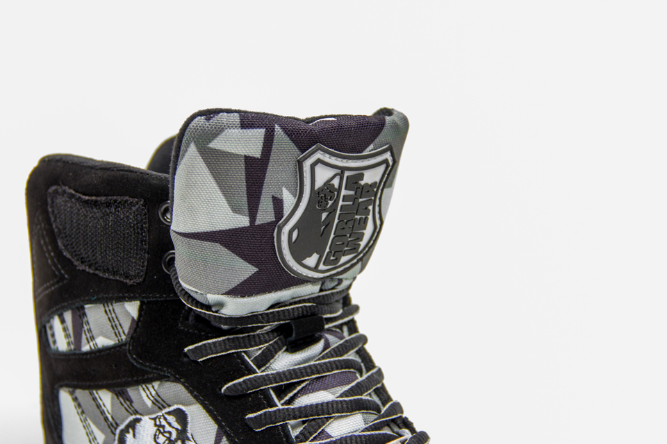 Gorilla Wear Perry High Tops Pro Black/Grey Camo lyftarsko plös