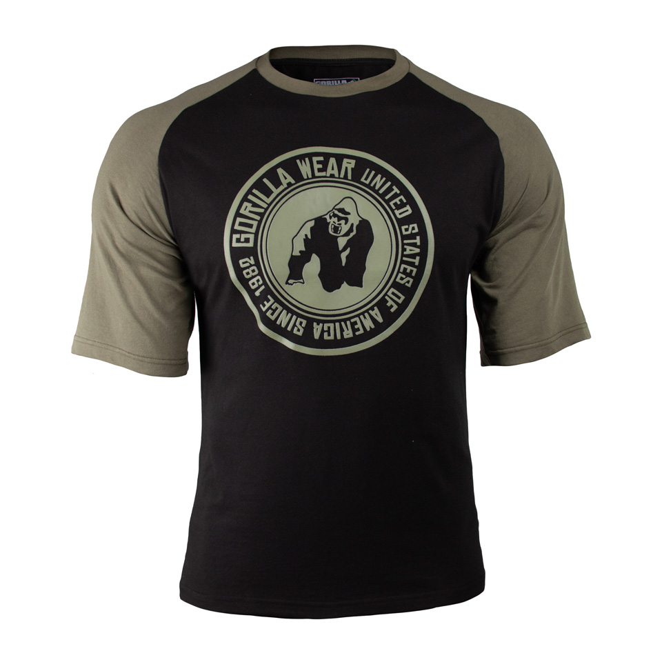 Gorilla Wear Texas T-Shirt, Black/Army Green