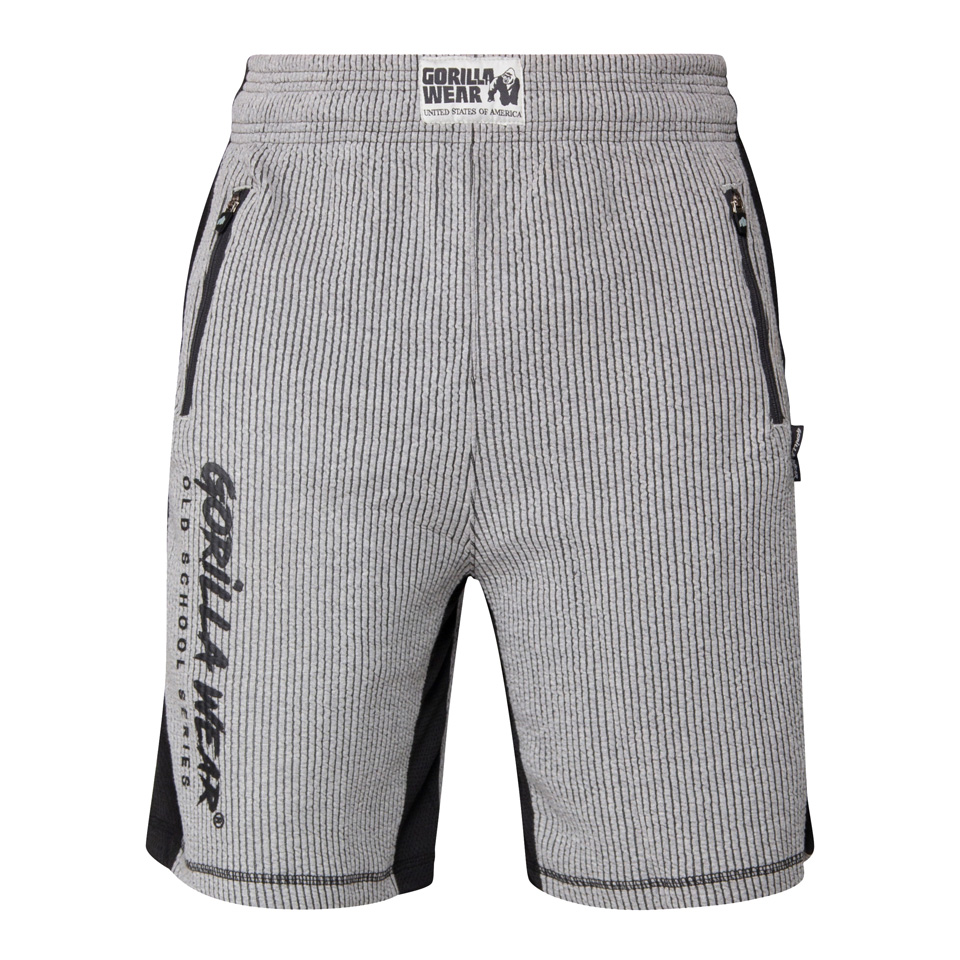 Gorilla Wear Augustine Old School Shorts, Grey