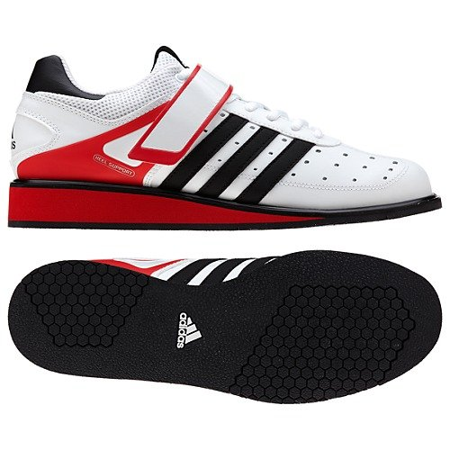 Adidas Power Perfect II Vit/Röd 45 1/3 - Adidas