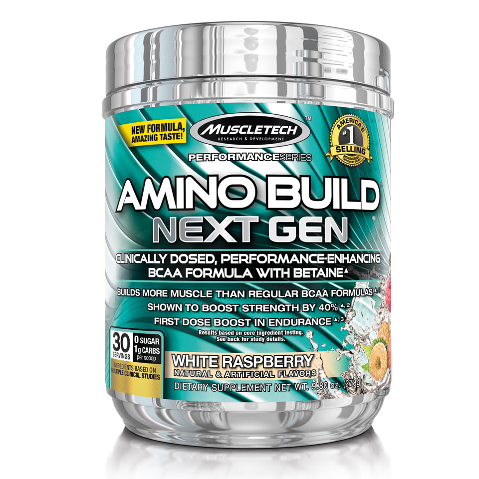 Muscletech Amino Build Next Gen 279 gram White Raspberry - MuscleTech