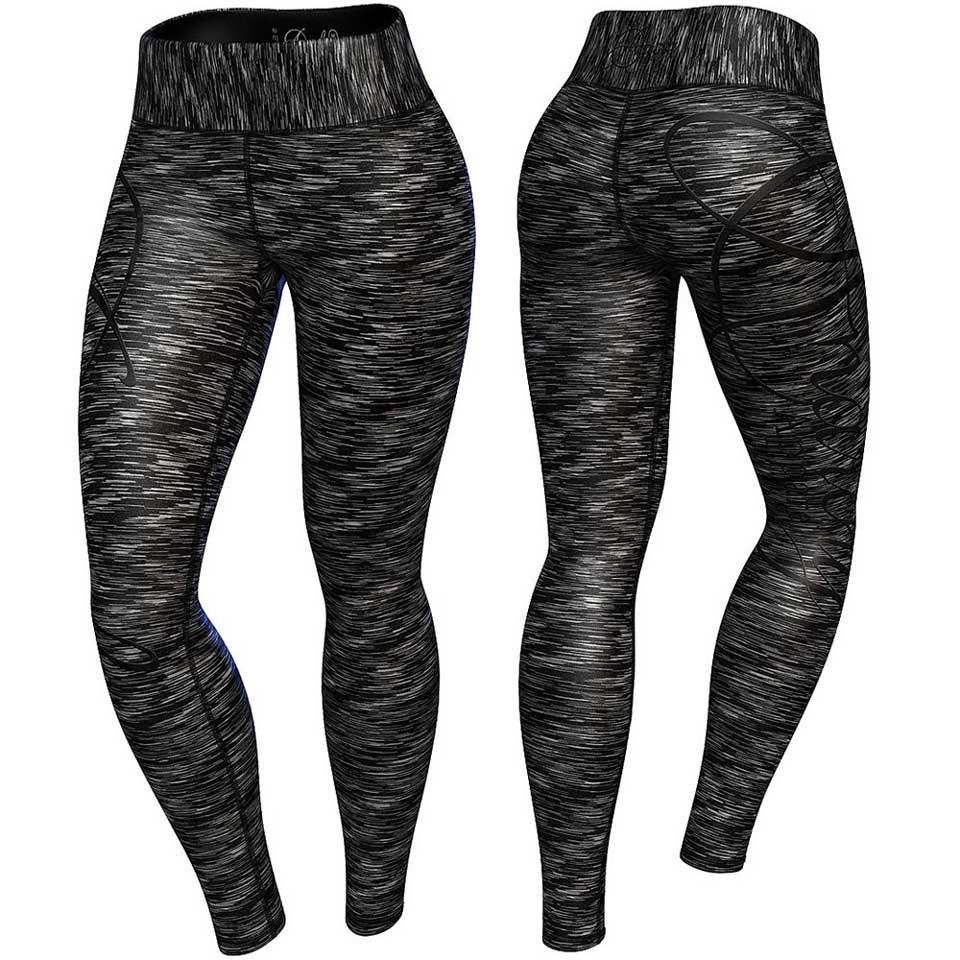 Fram- och baksida av Anarchy Cushy Legging Black/Grey träningstights