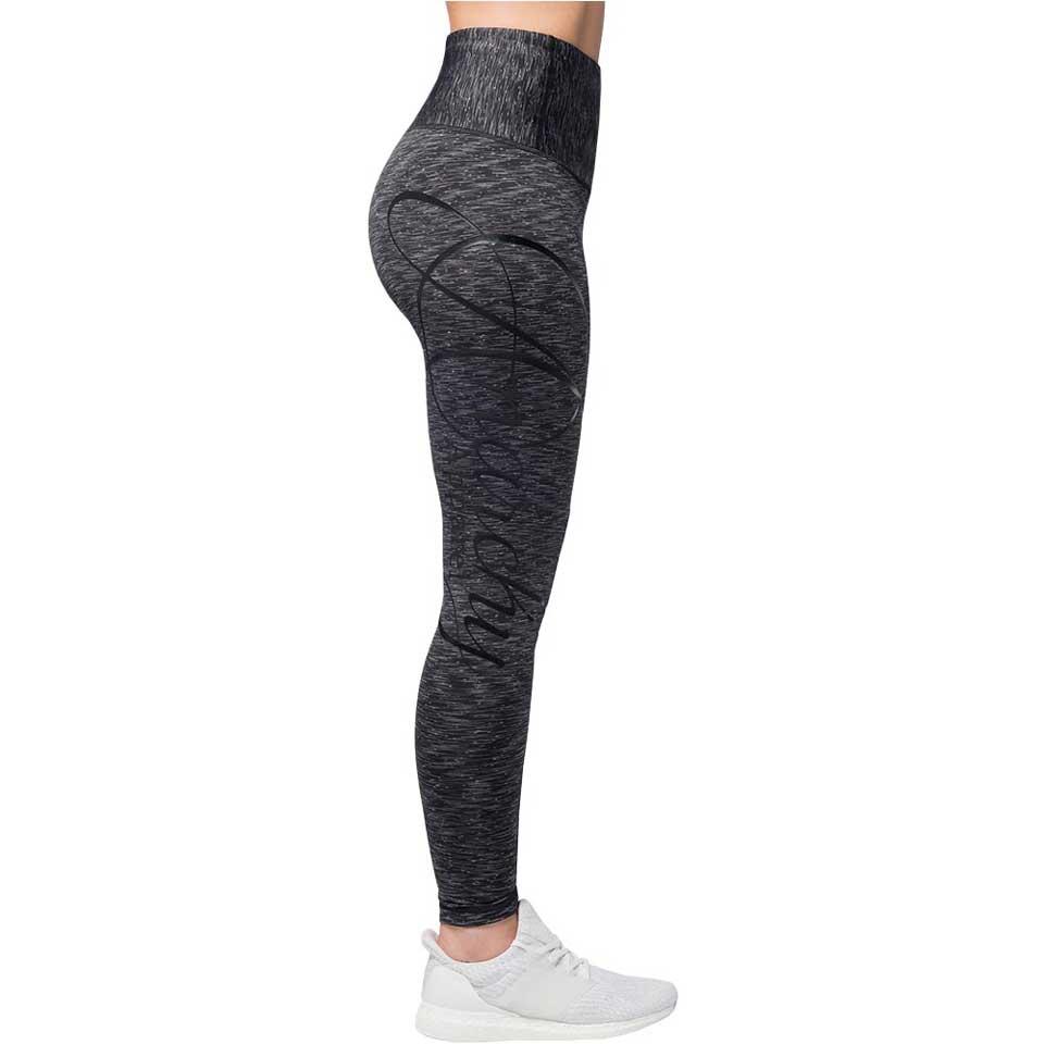 Anarchy Cushy Legging Black/Grey träningstights från sidan