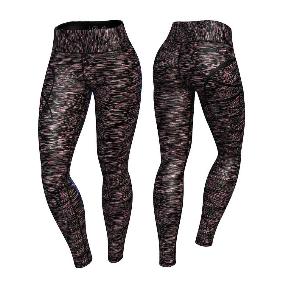 Anarchy Cushy Legging Black/Grey träningstights fram och bak