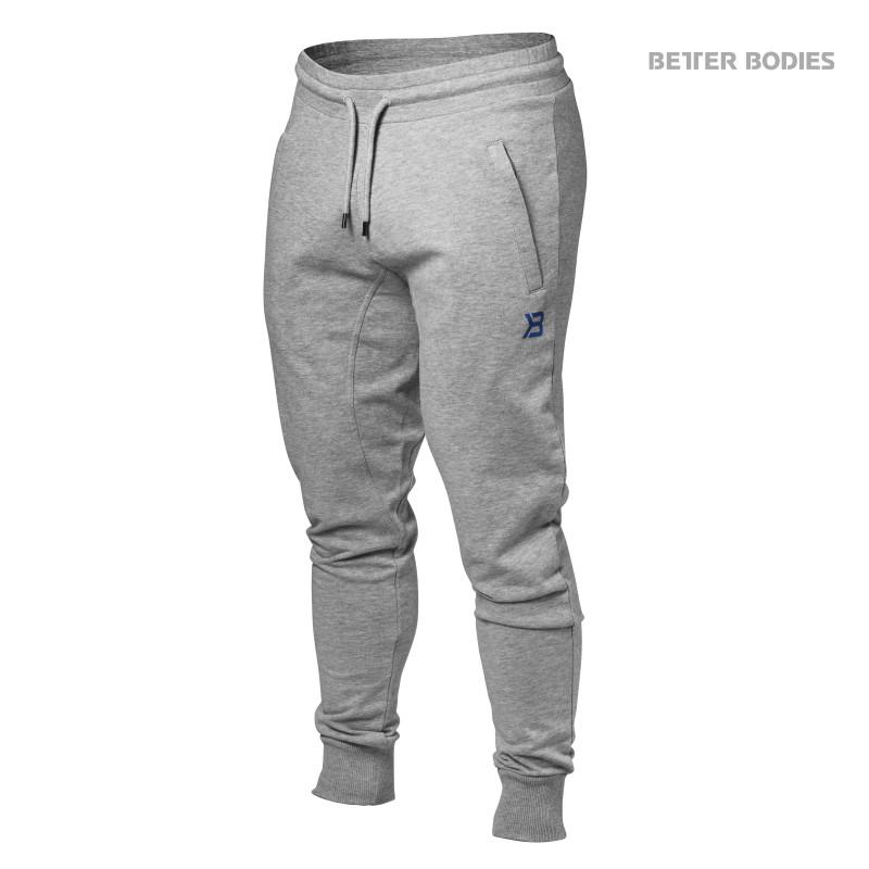 Better Bodies Tapered Joggers, Small, Greymelange - Träningskläder, Träningsbyxor
