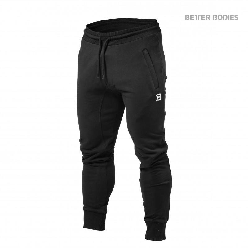 Better Bodies Tapered Joggers, XL, Black - Träningskläder, Träningsbyxor