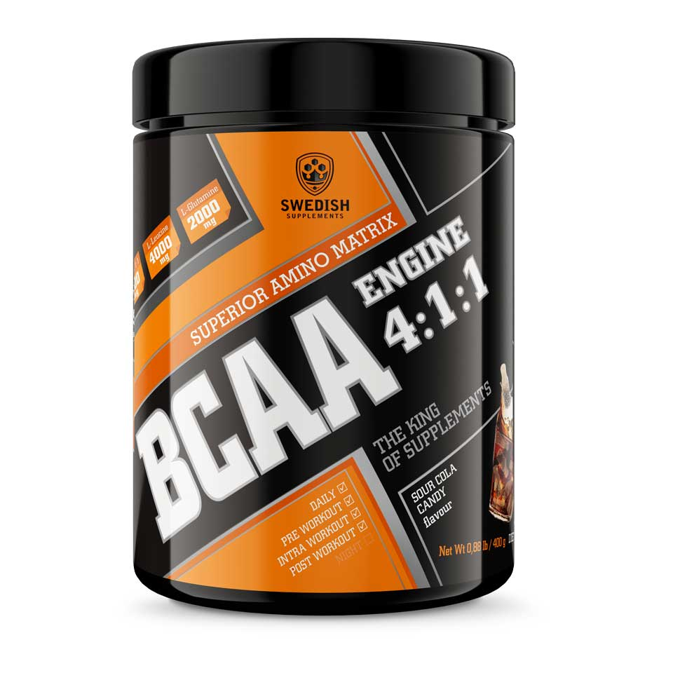 Swedish Supplements BCAA Engine 4:1:1 400 g Sour Cola Candy
