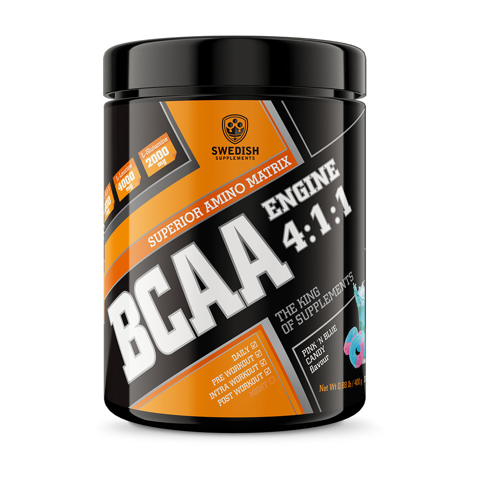 Swedish Supplements BCAA Engine 4:1:1 400 g Pink 'n Blue Candy