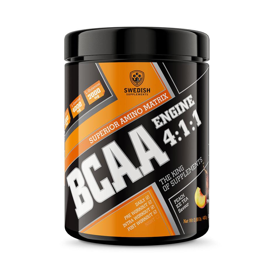 Swedish Supplements BCAA Engine 4:1:1 400 g Peach Ice Tea
