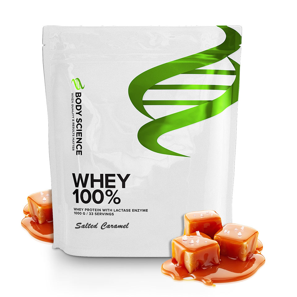 Body Science Whey 100% Salted Caramel 1 kg - Body Science