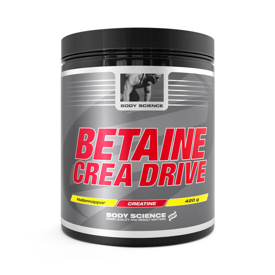 Body Science Betaine Crea Drive 420 gram Hallonnappar - Body Science