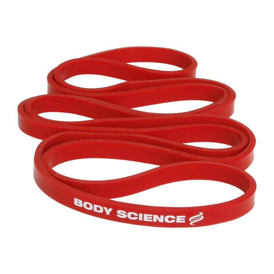 Rött Body Science Power Resistance Band träningsband med 7-11 kg motstånd