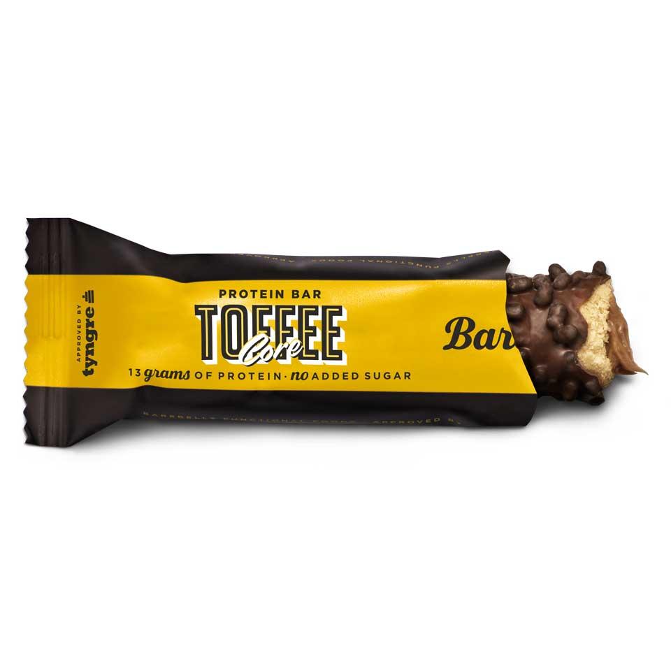 Barebells Corebar Toffee öppnad