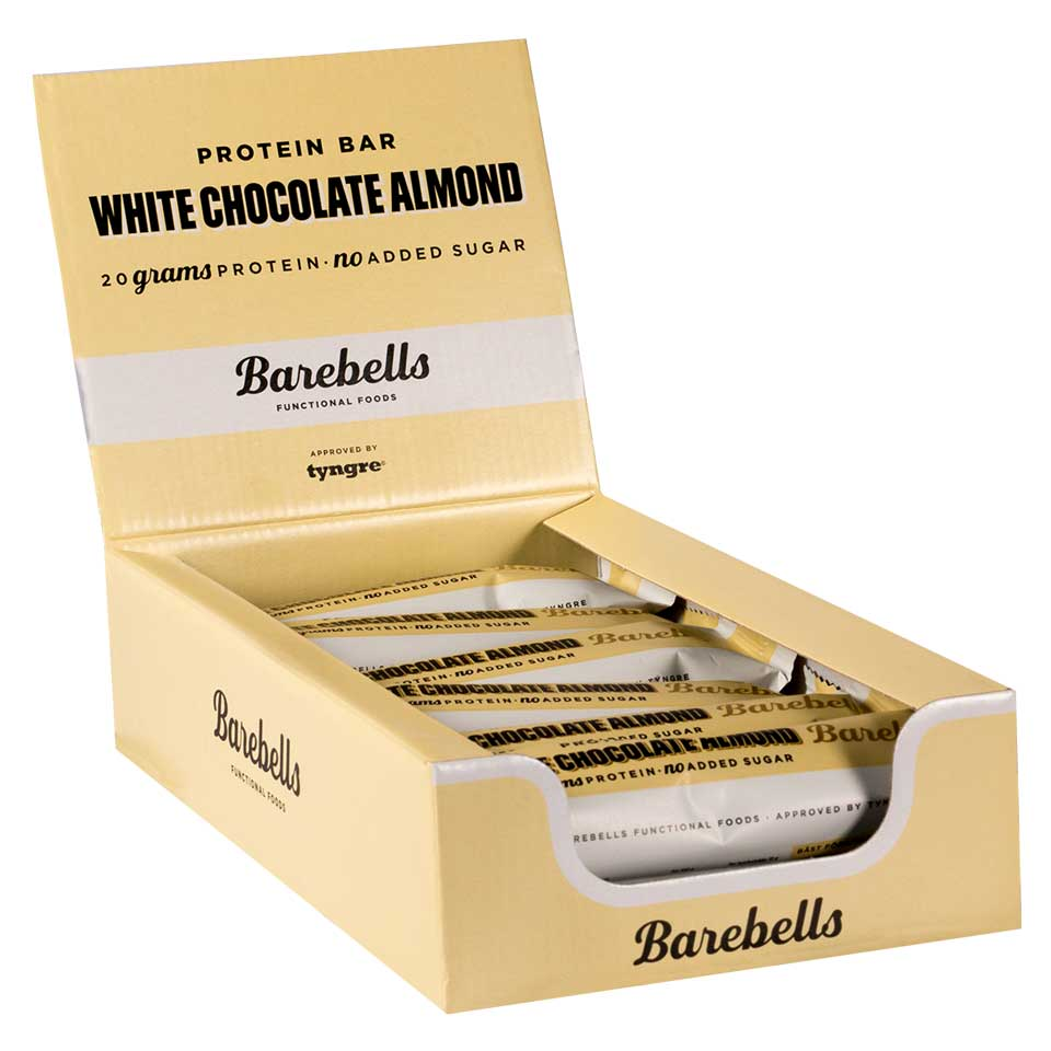 Barebells Protein Bar - 12st hel låda White Chocolate Almond