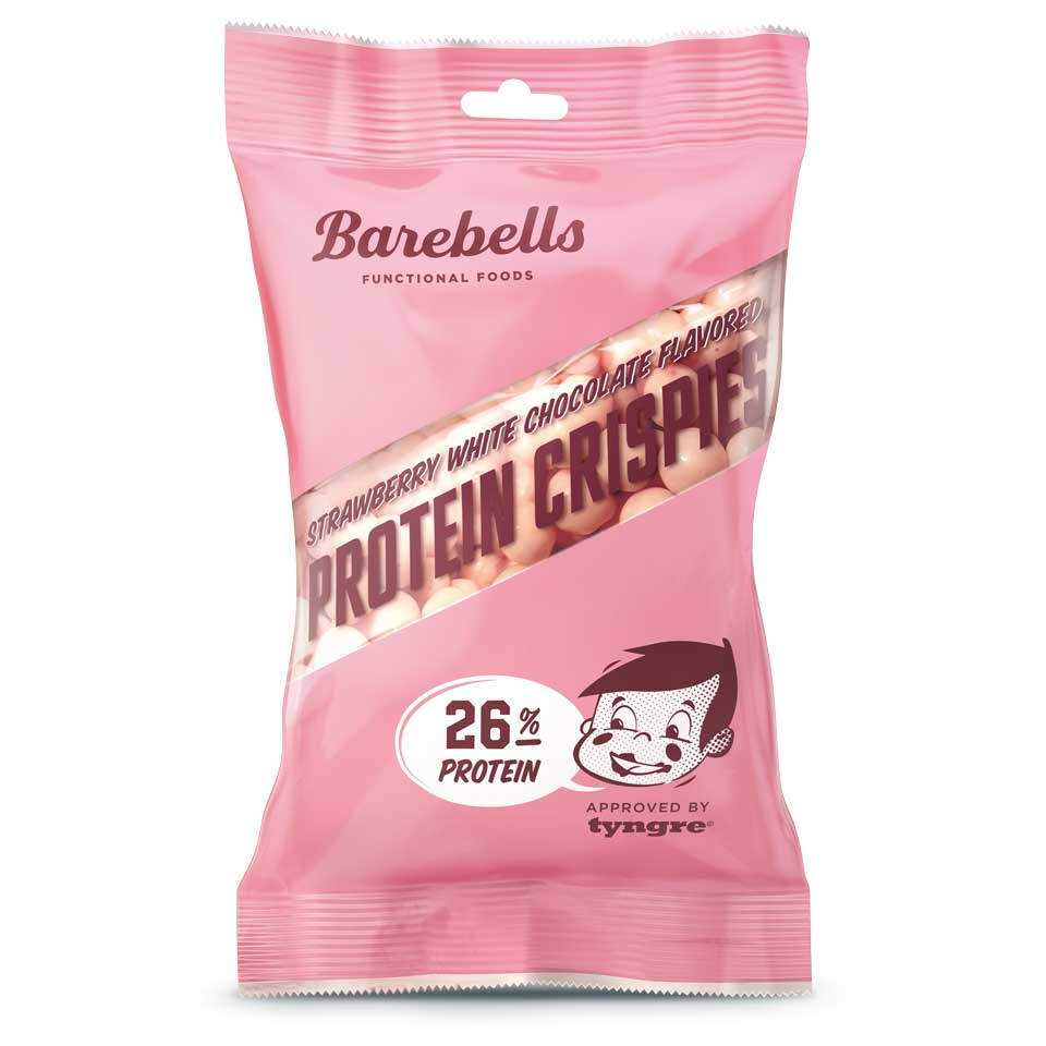 Barebells Protein Crisps Strawberry White Chocolate 50 gram - Barebells