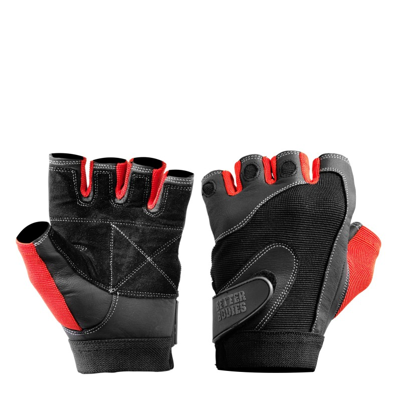Better Bodies Pro Lifting Gloves Black/red XL - Better Bodies