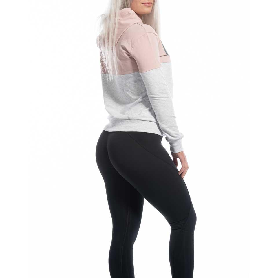 Höger sida av grå MM Sports Block Hoodie Amber